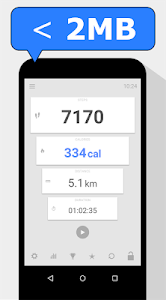 screenshot of Step Counter - Calorie Counter - Pedometer Free version 1.2.1