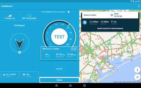 screenshot of 3G 4G WiFi Maps & Speed Test version 5.02