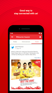 screenshot of ACT Fibernet version 22.2.7