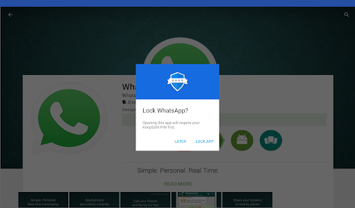 screenshot of App Lock: Fingerprint Password version Varies with device
