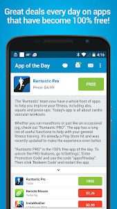 screenshot of App of the Day - 100% Free version 4.0.2