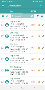 screenshot of Auto Call Recorder version 1.2.0