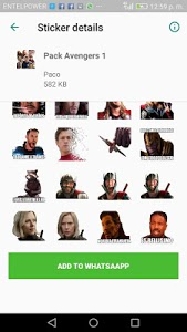 screenshot of AvengerStickers WAStickerApps Momazos Memes version 2.0