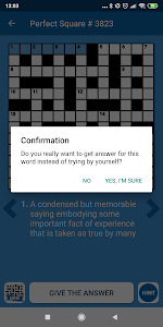 screenshot of Awesome crosswords version 1.0.8