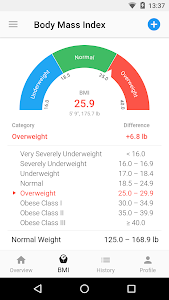 screenshot of BMI Calculator & Weight Loss Tracker version 4.9.10