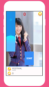 screenshot of BNK48 Piano Tiles Game version 1.0