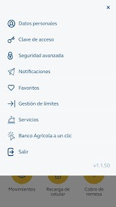 screenshot of Banco Agrícola version 2.0.13