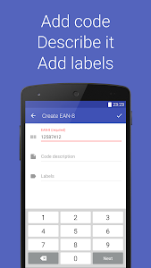 screenshot of Barcode Generator version 3.3.1