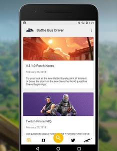 screenshot of Battle Bus Driver - Fortnite Companion version 1.6.2