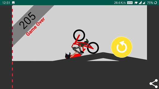 screenshot of Bike Wheelie Game - how long can you hold? version 1.3
