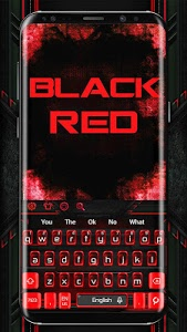 screenshot of Black Red Keyboard Theme version 10001005