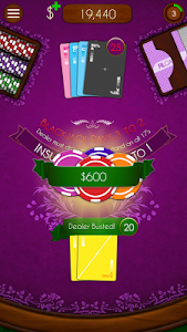 screenshot of BlackJack! version 1.3.4