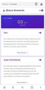 screenshot of Brave Browser (Beta) version 1.5.116