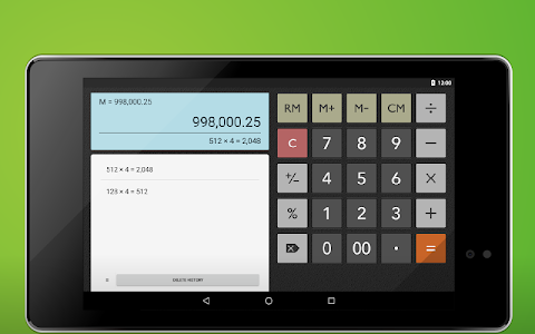 screenshot of Calculator Memory & Percent version 1.1.16b