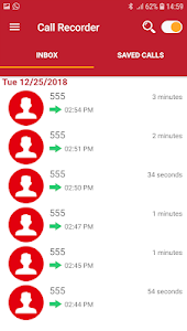 screenshot of Call Recorder version 21.0