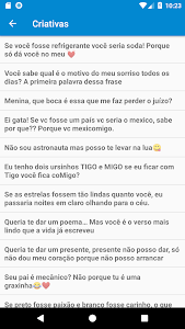 screenshot of Cantadas - Top Frases version 1.91