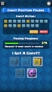 screenshot of Chest Tracker for Clash Royale version 1.2.0