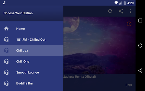 screenshot of Chillout Radio Full - Low Tempo, Easy Listening version 1.8