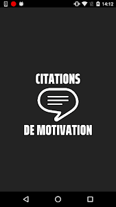 screenshot of Citations De Motivation version 1.22