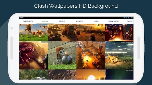 screenshot of Clash Wallpapers HD - Funny Layouts version 1.2.4
