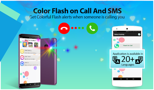 screenshot of Color flashlight on call and sms: Color flash version 1.0.5