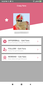 screenshot of Crazy Fans - Get fans & Get followers on Tlk.Tk version 1.0.5