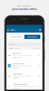 screenshot of Credit One Bank Mobile version 2.14