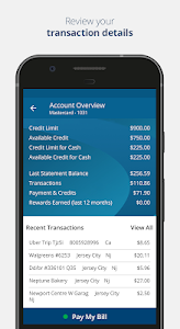 screenshot of Credit One Bank Mobile version 2.13