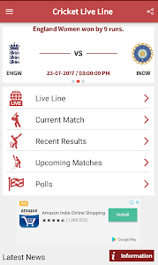 screenshot of Cricket Live Line version 3.8