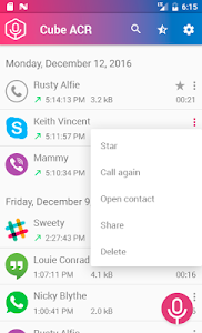 screenshot of Cube Call Recorder ACR version 1.0.32