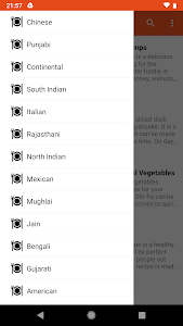 screenshot of Cuisines Recipes Collection version 1.0