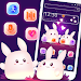 Download Cute Glowing Bunny Couple Theme 1.1.2 APK