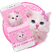 Download Cute Pink Kitty Keyboard 10001026 APK