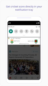 screenshot of Dailyhunt (Newshunt)- Cricket, News,Videos version Varies with device