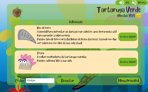 screenshot of Deixa a tartaruga nadar version 0.8