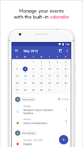 screenshot of School Planner version 3.14.9