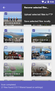 screenshot of DiskDigger Pro file recovery version 1.0-pro-2016-03-02