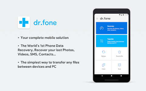 screenshot of dr.fone - Recovery & Transfer wirelessly & Backup version 3.2.1.192