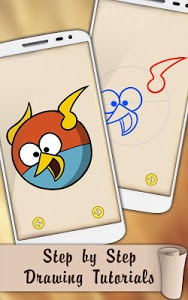 screenshot of Easy Draw Very Angry Birds version 1.0