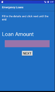 screenshot of Emergency Loans version 1.0