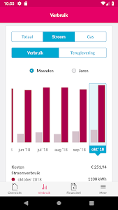 screenshot of Essent VerbruiksManager+ version 1.0.0