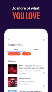 screenshot of Eventbrite - Discover popular events & nearby fun version 6.7.0