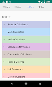 screenshot of All-in-one Calculator Free version 4.2.9