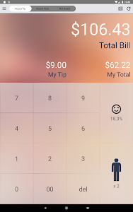 screenshot of Ez Bill - Tip Calculator version 3.9.2