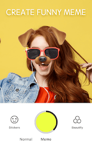 screenshot of Face camera - live filter, Selfie photo version Varies with device