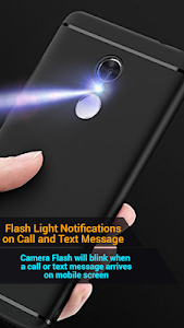 screenshot of Flash on Call and SMS version 6.1.7