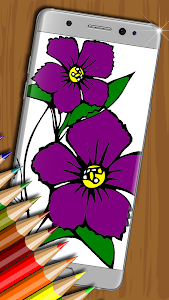screenshot of Flowers Coloring Book for Kids version 1.7