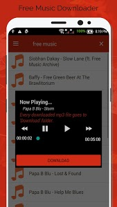 screenshot of Free Music Downloader - Mp3 Download version 1.1
