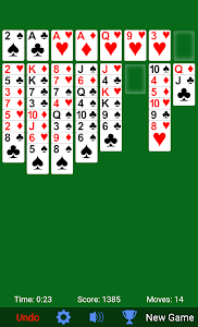 screenshot of FreeCell Solitaire version 3.5.0