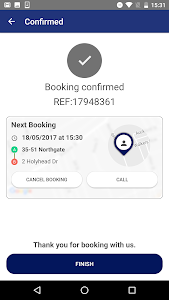 screenshot of Frontline Taxis version 32.1.5.0